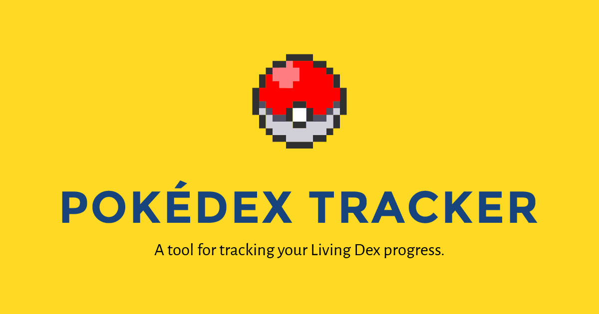 pokedex checklist excel
